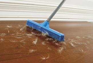 Soft Rubber Broom And Squeegee Opposite Side Safe On All Natural Wood Synthetic Floors